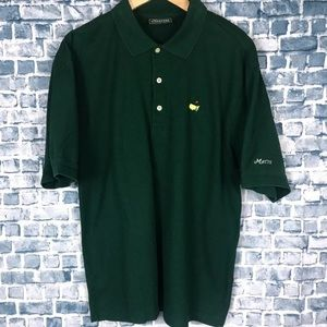 Masters Collection Mens Green Golf Polo Shirt